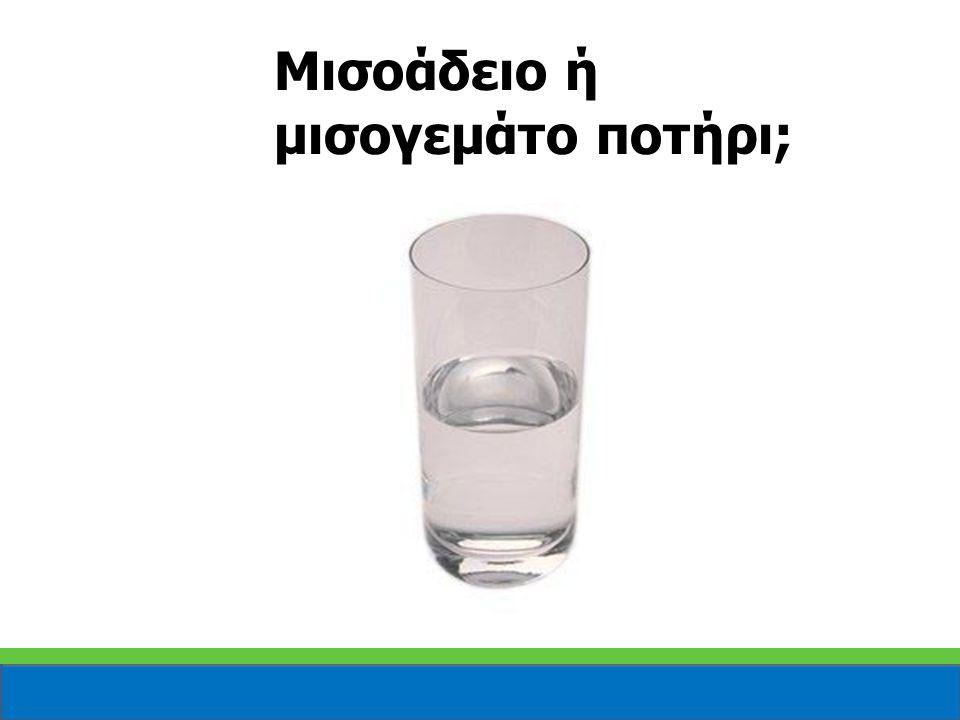 Μισοάδειο ή μισογεμάτο ποτήρι;