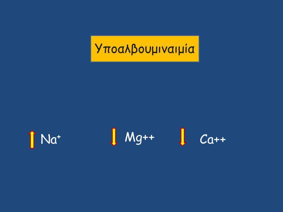 Υποαλβουμιναιμία Na + Mg++ Ca++