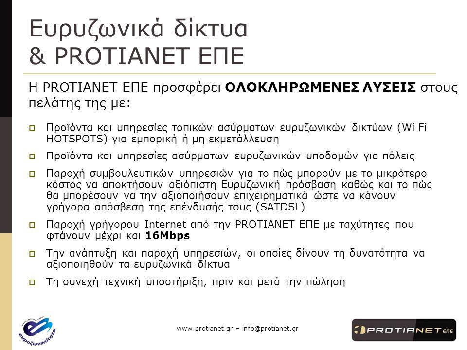 www.protianet.gr – info@protianet.gr Για τι θα μιλήσουμε .