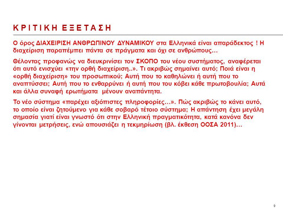9 Ο όρος ΔΙΑΧΕΙΡΙΣΗ ΑΝΘΡΩΠΙΝΟΥ ΔΥΝΑΜΙΚΟΥ στα Ελληνικά είναι απαράδεκτος .