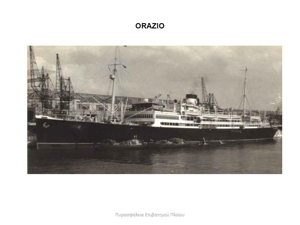 ORAZIO Πυρασφάλεια Επιβατηγού Πλοίου