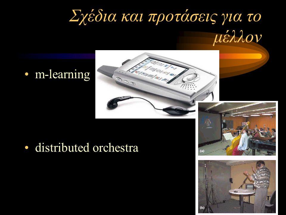 Σχέδια και προτάσεις για το μέλλον m-learning distributed orchestra