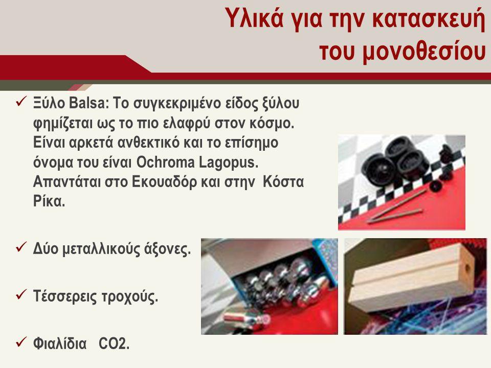 Υλικά για την κατασκευή του μονοθεσίου Ξύλο Balsa: Το συγκεκριμένο είδος ξύλου φημίζεται ως το πιο ελαφρύ στον κόσμο. Είναι αρκετά ανθεκτικό και το επ