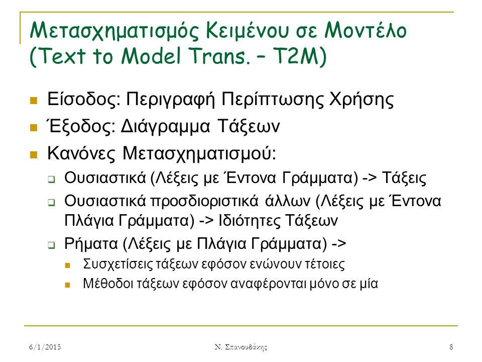 Μετασχηματισμός Κειμένου σε Μοντέλο (Text to Model Trans.