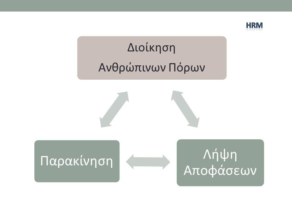 Διοίκηση Ανθρώπινων Πόρων Λήψη Αποφάσεων Παρακίνηση