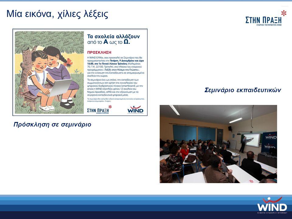 Μία εικόνα, χίλιες λέξεις Πρόσκληση σε σεμινάριο Σεμινάριο εκπαιδευτικών