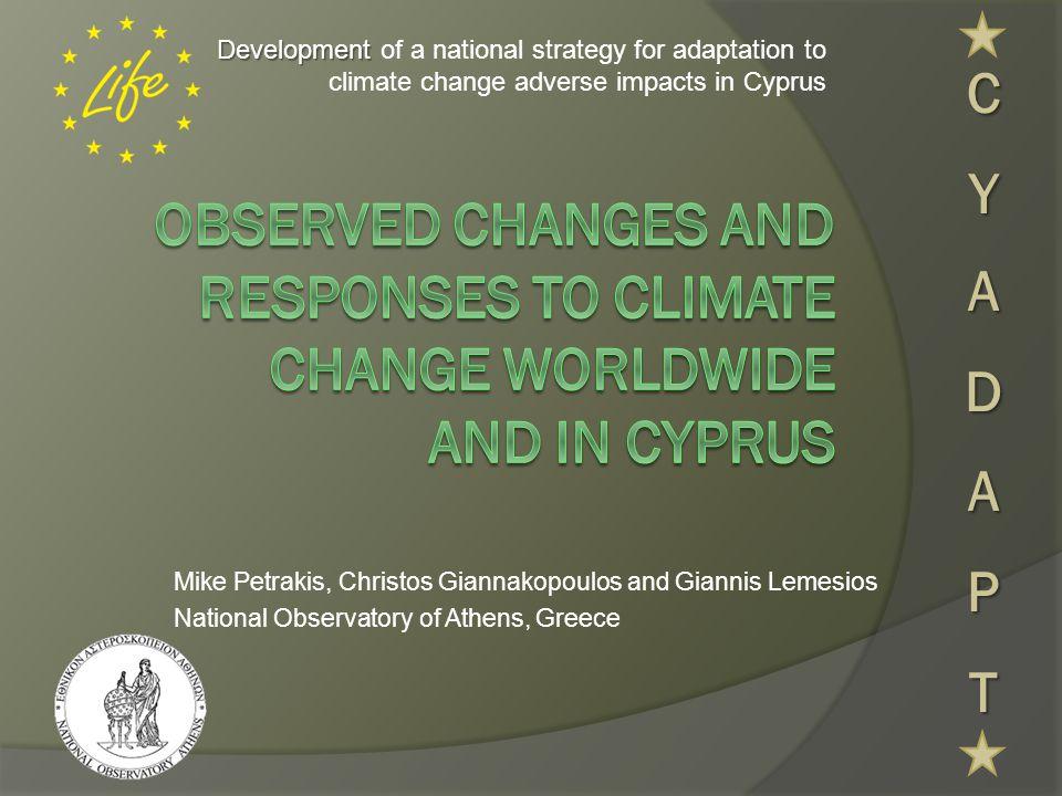 Άνοδος της Θάλασσας IPCC, 2007NASA, 2008  Κατά την περίοδο 1961 – 2003 η στάθμη της θάλασσας αυξήθηκε κατά 1,8 ± 0,5 mm το χρόνο.