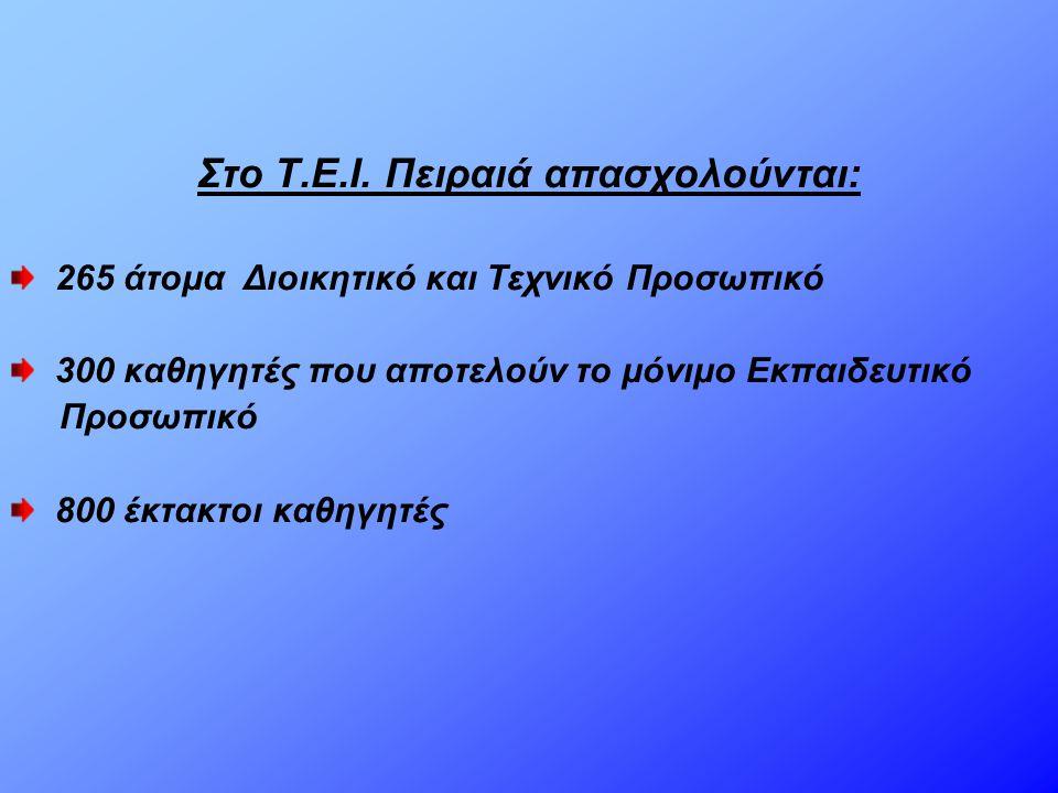  Η εισαγωγή στα ΤΕΙ πραγματοποιείται με τις γενικές εξετάσεις.
