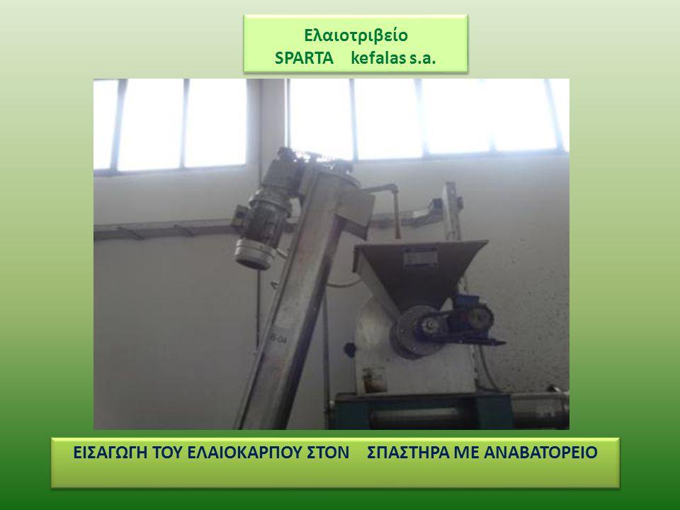 Ελαιοτριβείο SPARTA kefalas s.a. ΜΑΛΑΚΤΗΡΑΣ