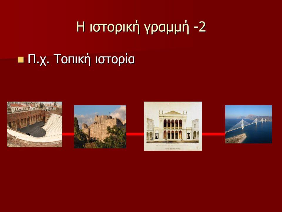 Η ιστορική γραμμή -2 Π.χ. Τοπική ιστορία Π.χ. Τοπική ιστορία