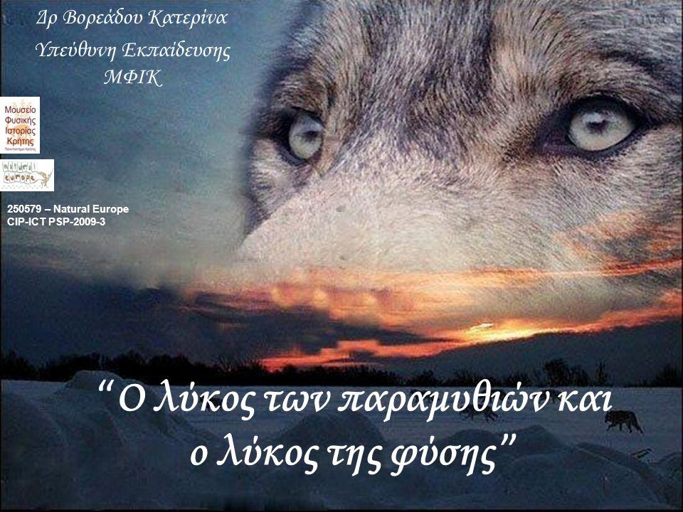 Ο λύκος των παραμυθιών και ο λύκος της φύσης Δρ Βορεάδου Κατερίνα Υπεύθυνη Εκπαίδευσης ΜΦΙΚ 250579 – Natural Europe CIP-ICT PSP-2009-3
