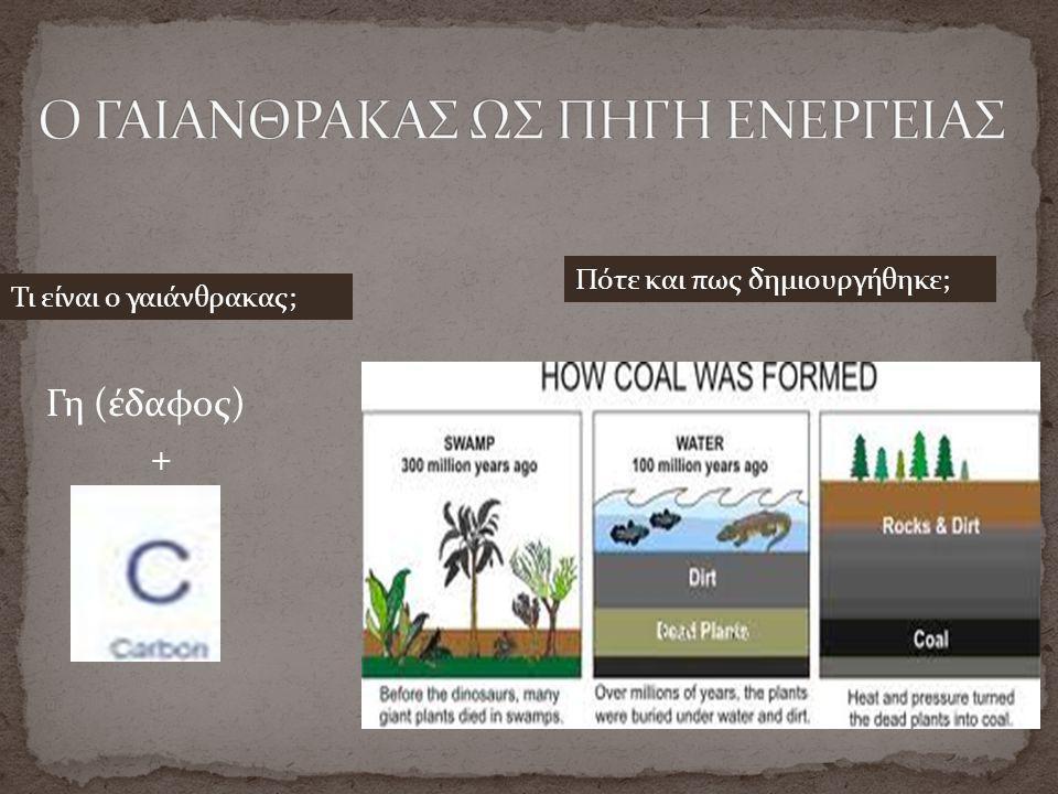 Γη (έδαφος) + Τι είναι ο γαιάνθρακας; Πότε και πως δημιουργήθηκε;