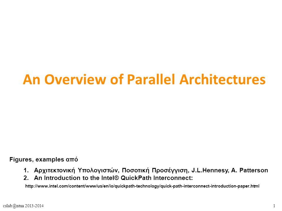 62cslab@ntua 2013-2014 Ερευνητικές περιοχές στο CSLab (και πεδία διπλωματικών εργασιών)  Παράλληλος προγραμματισμός και εφαρμογές – Transactional memory » Μελέτη και Αξιολόγηση του TSX στους Haswell επεξεργαστές της Intel: Παραλληλοποίηση Red Black Tree » Extension of a Recognition, Mining and Synthesis Benchmark Suite for Transactional Memory » Αλγόριθμοι διάσχισης γράφων σε σύγχρονες πολυπύρηνες αρχιτεκτονικές – Παραλληλοποίηση και βελτιστοποίηση εφαρμογών » Επιστημονικοί υπολογισμοί, Αλγόριθμοι γράφων, Δομές δεδομένων, κλπ » Τεχνικές Βελτιστοποίησης για παράλληλο λογισμικό μεγάλης κλίμακας » SparseX: Βιβλιοθήκη για τον πολλαπλασιασμό αραιού πίνακα με διάνυσμα σε πολυπύρηνες αρχιτεκτονικές » Σε CMPs, SMTs, NUMA, Accelerators (GPUs, Xeon Phi), large-scale systems » Υλοποίηση και Βελτιστοποίηση του Αλγορίθμου Smith - Waterman σε Πολυπύρηνους Επεξεργαστές και Πολυνηματικούς Επεξεργαστές Γραφικών » Implementation and optimization of algorithms on multicore and manycore architectures