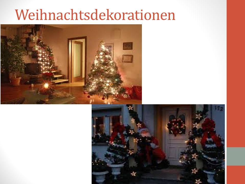 Οι Γερμανοί δίνουν μεγάλο βάρος στη διακόσμηση των σπιτιών τους την περίοδο των εορτών των Χριστουγέννων. Γύρω από τα παράθυρα βάζουν ηλεκτρικά κεράκι