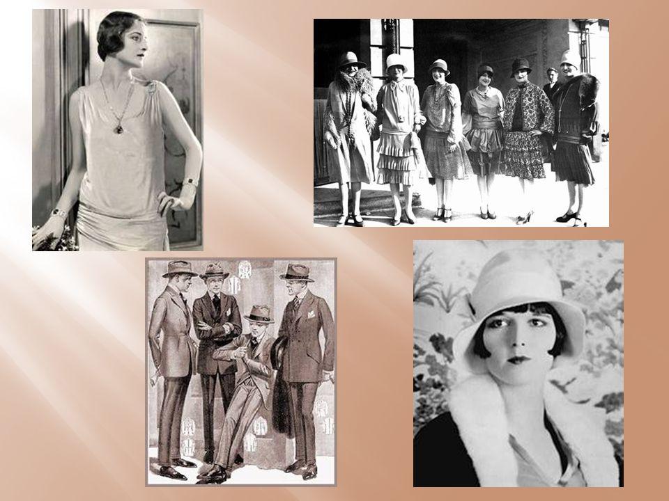 ♥ Τα πρωινά ρούχα των γυναικών ήταν βολικά και πρακτικά ταυτόχρονα ♥ Αποτελούνταν από ριχτά φορέματα που απείχαν 20 εκατοστά από το έδαφος ♥ Τα βραδινά ρούχα ήταν εντυπωσιακά και πολυτελή φορέματα.