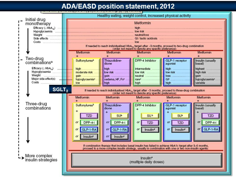 ADA/EASD position statement, 2012 SGLT 2