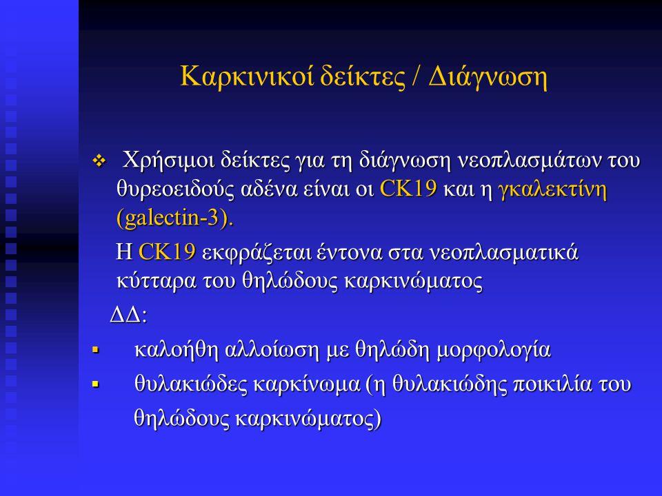 CK19 σε θηλώδες καρκίνωμα θυρεοειδούς αδένα CK19