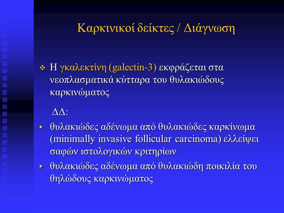 galectin-3 σε θυλακιώδες καρκίνωμα θυρεροειδούς