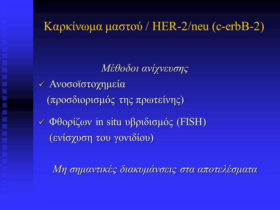 HER-2/neu (c-erbB-2) Μελέτη Αρ.ασθ. Τεχνική Αντιστ.