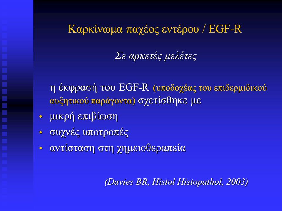 EGF-R σε αδενοκαρκίνωμα παχέος εντέρου