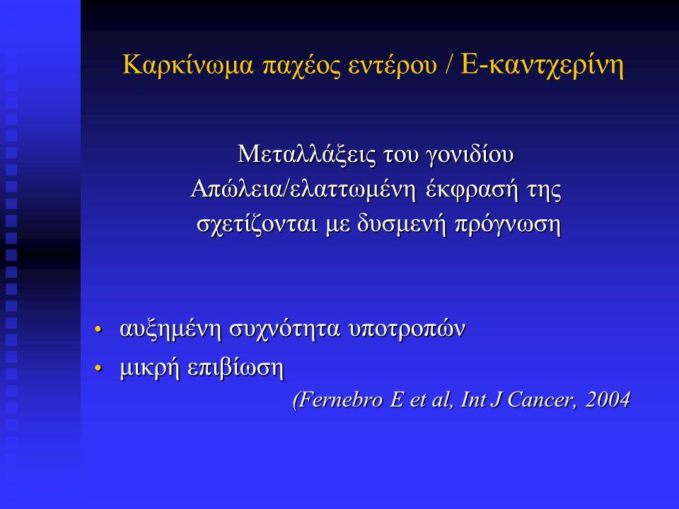 E-καντχερίνη σε αδενοκαρκίνωμα παχέος εντέρου
