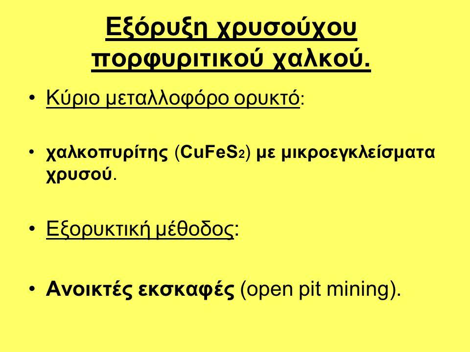 Εξόρυξη χρυσούχου πορφυριτικού χαλκού.
