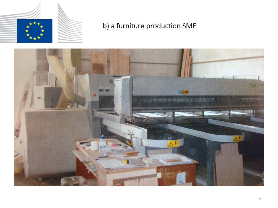 b) a furniture production SME 6