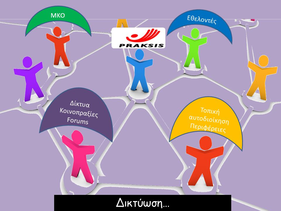 Τοπική αυτοδιοίκηση Περιφέρειες Δίκτυα Κοινοπραξίες Forums ΜΚΟ Εθελοντές Δικτύωση…