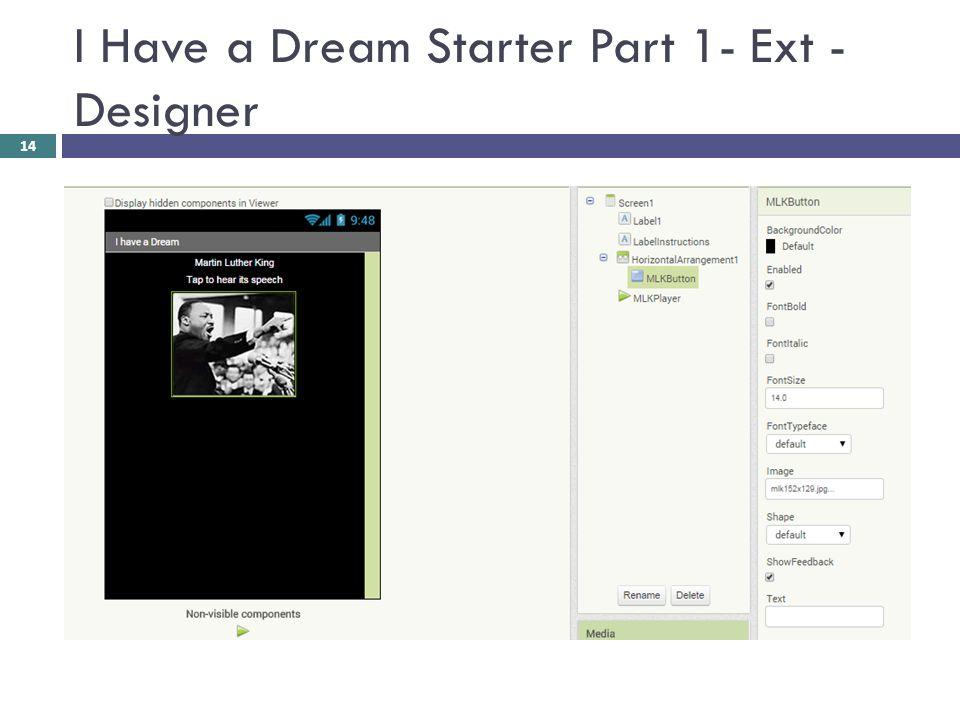 I Have a Dream Starter Part 1- Ext - Designer 14