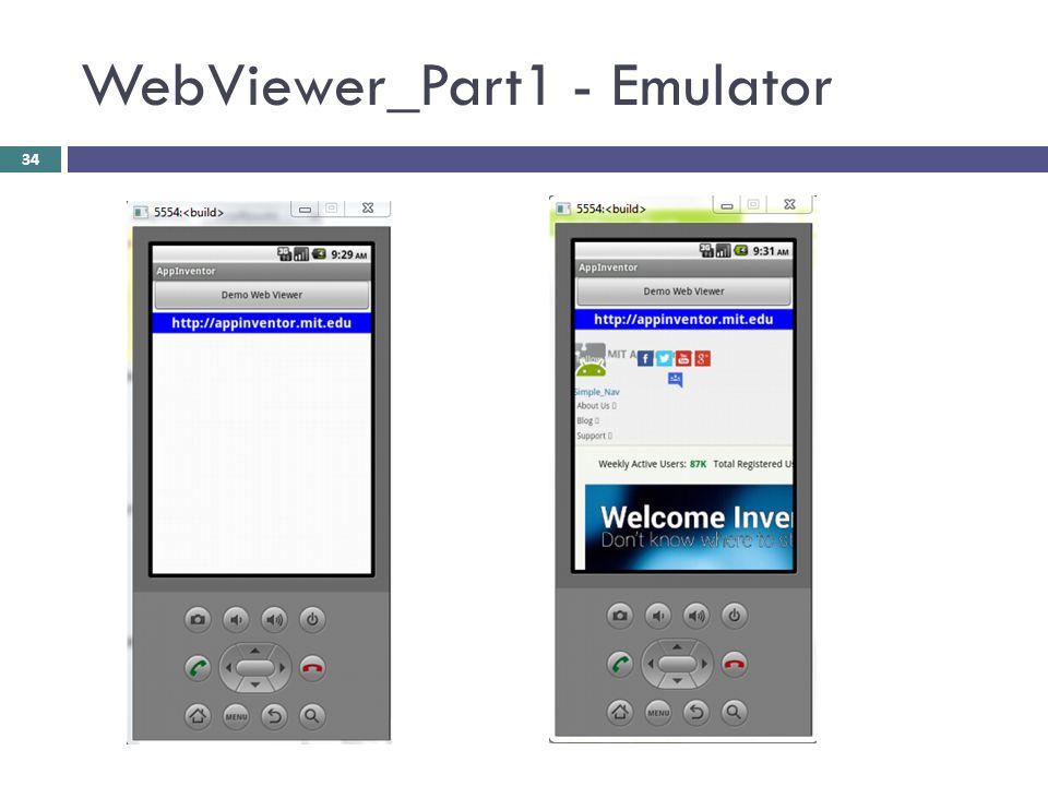 WebViewer_Part1 - Emulator 34