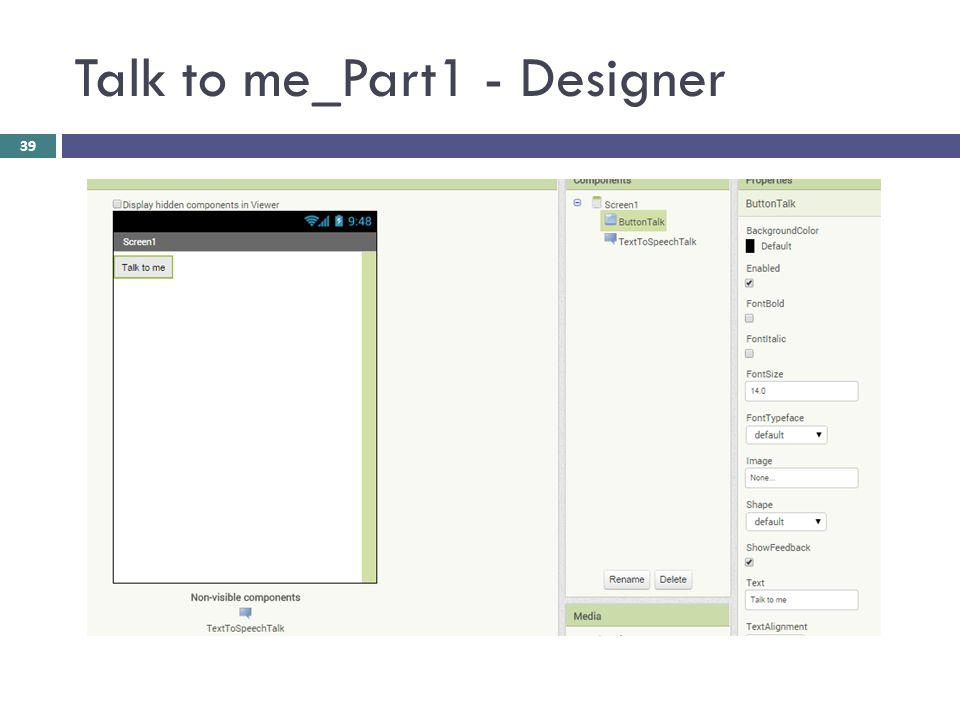 Talk to me_Part1 - Designer 39
