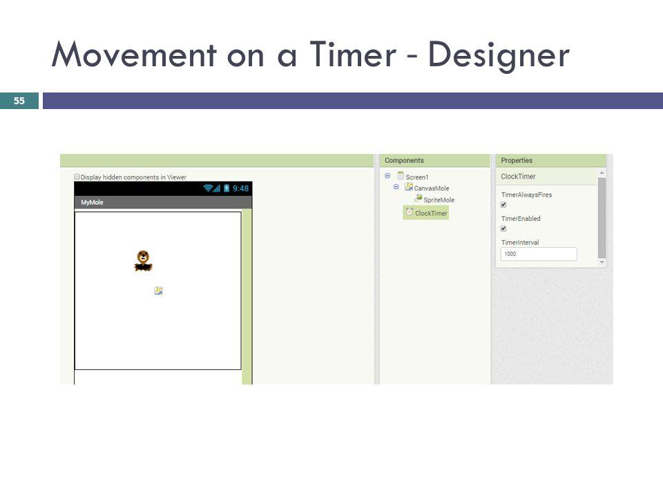 Movement on a Timer - Designer 55