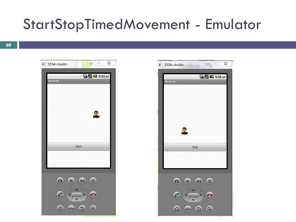 StartStopTimedMovement - Emulator 60