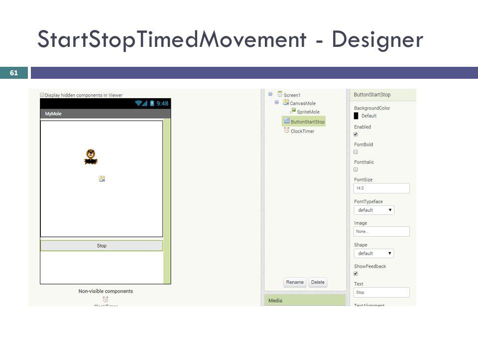 StartStopTimedMovement - Designer 61