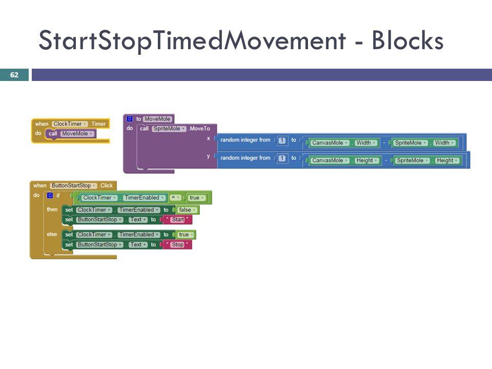 StartStopTimedMovement - Blocks 62