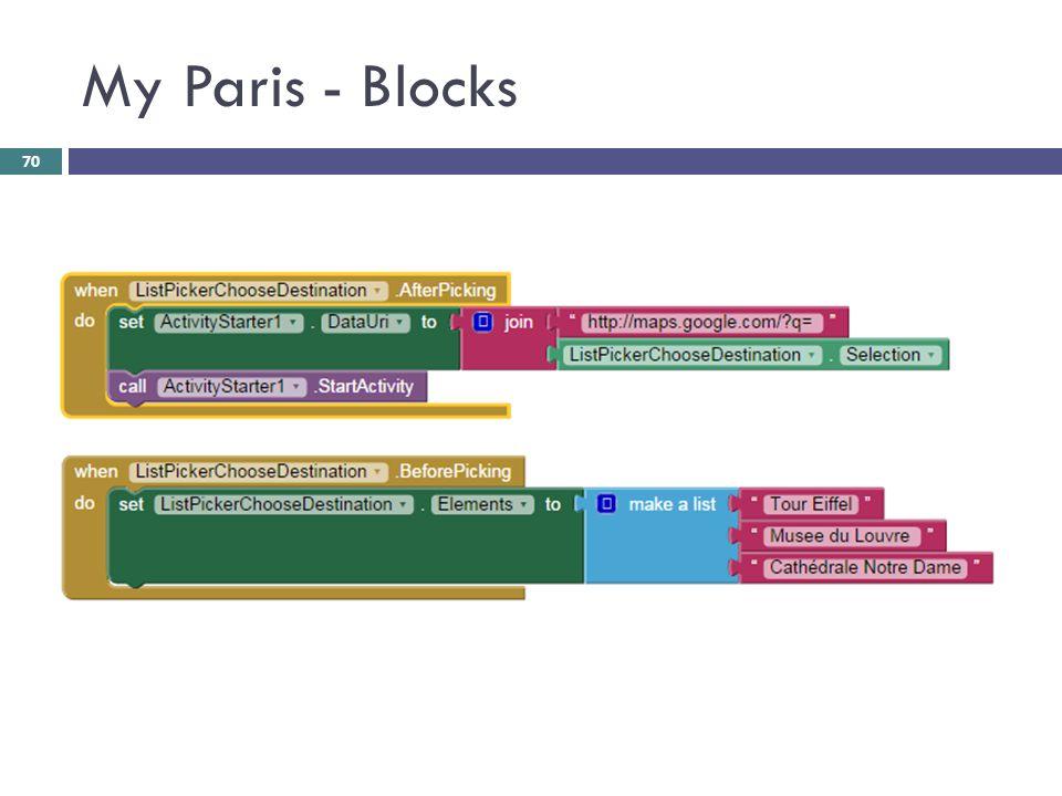My Paris - Blocks 70