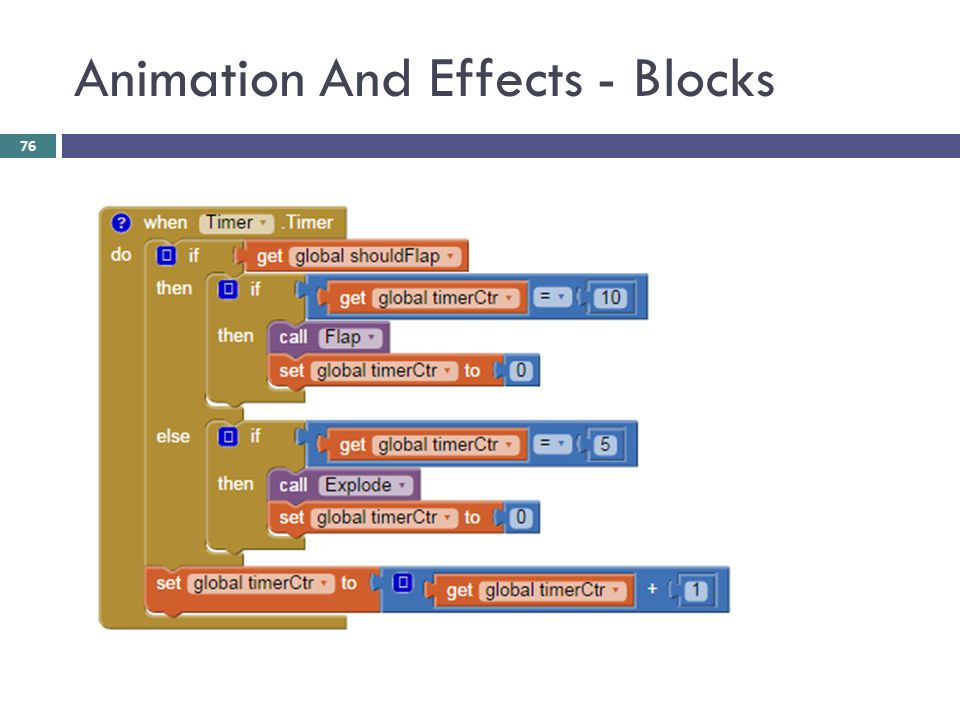 Animation And Effects - Blocks 76