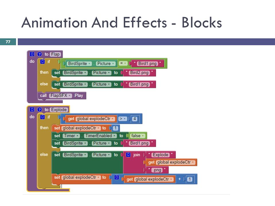 Animation And Effects - Blocks 77