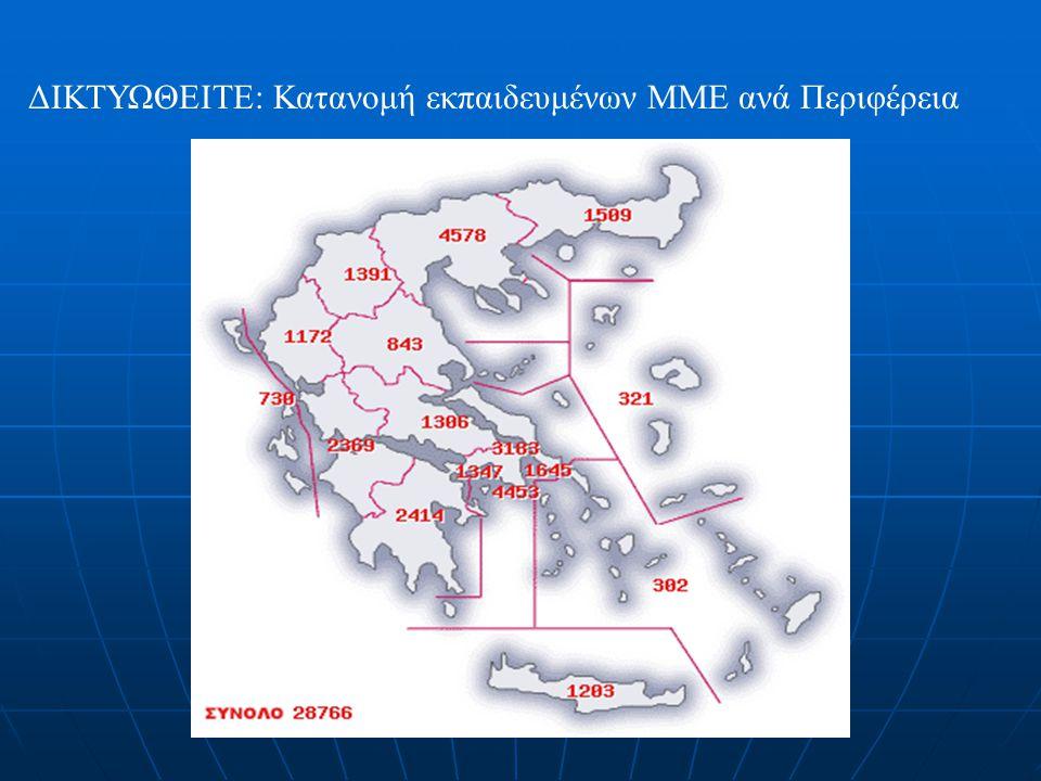ΔΙΚΤΥΩΘΕΙΤΕ: Κατανομή εκπαιδευμένων ΜΜΕ ανά Περιφέρεια