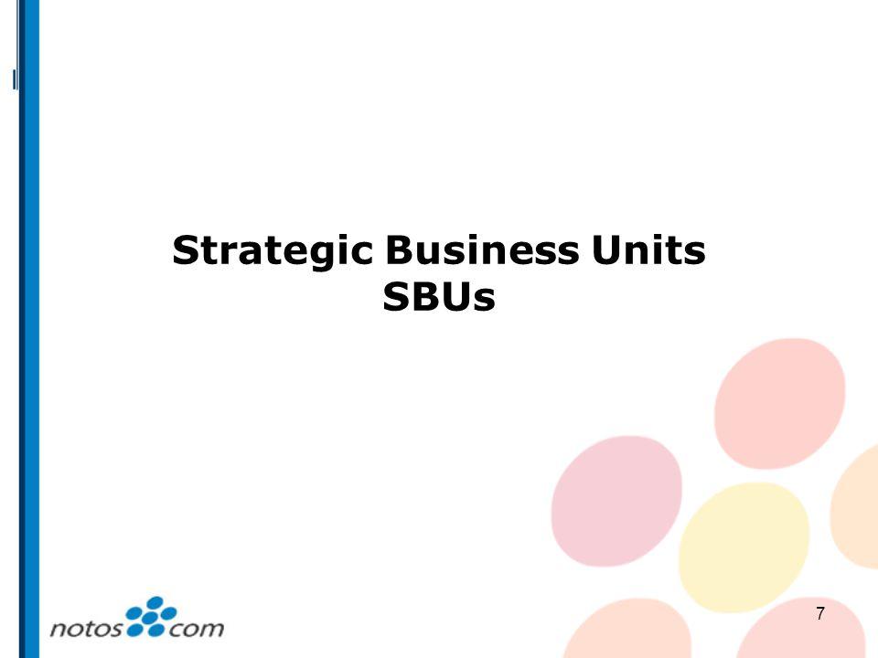 7 Strategic Business Units SBUs