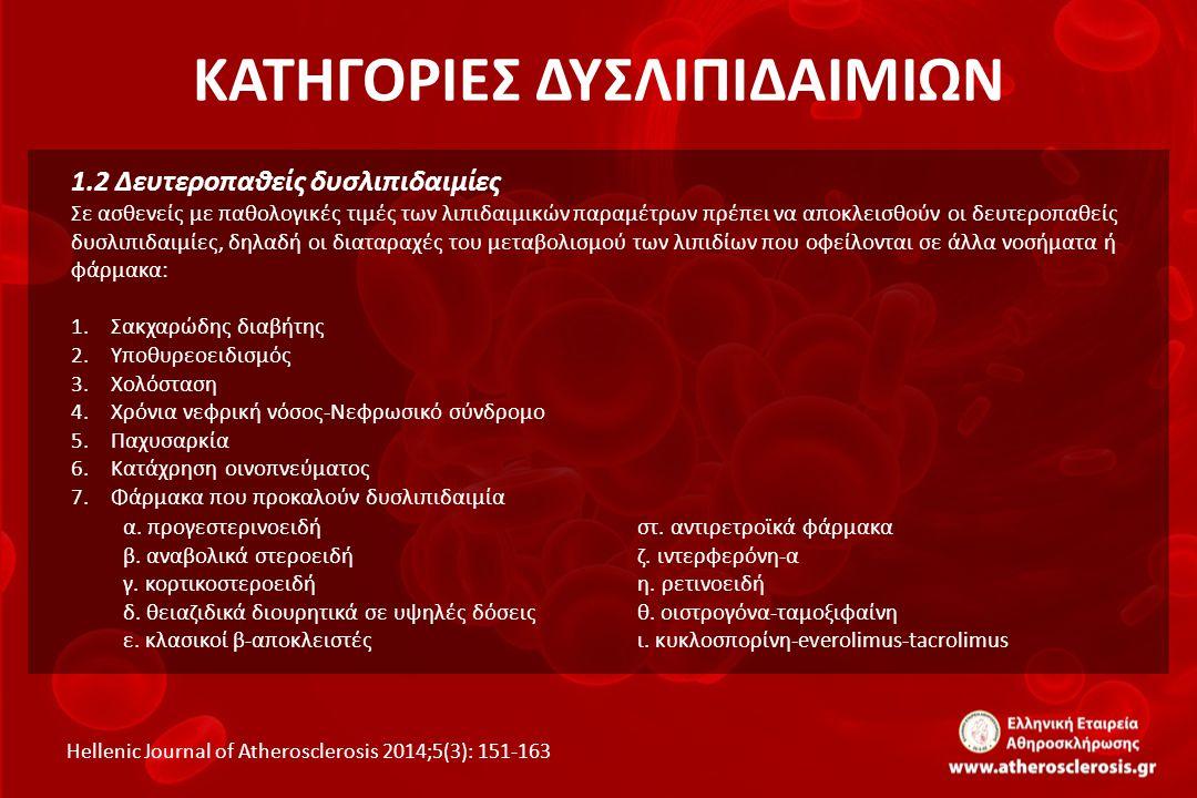 ΑΣΘΕΝΕΙΣ ΠΟΛΥ ΥΨΗΛΟΥ ΚΙΝΔΥΝΟΥ Hellenic Journal of Atherosclerosis 2014;5(3): 151-163 ΠΡΩΤΟΓΕΝΗΣ ΣΤΟΧΟΣ ΤΗΣ ΑΓΩΓΗΣ: Η ΜΕΙΩΣΗ ΤΗΣ LDL ΧΟΛΗΣΤΕΡΟΛΗΣ ΑΜΕΣΗ ΕΝΑΡΞΗ ΥΓΙΕΙΝΟΔΙΑΙΤΗΤΙΚΩΝ ΜΕΤΡΩΝ ΚΑΙ ΑΓΩΓΗΣ ΜΕ ΣΤΑΤΙΝΗ ΜΕ ΣΤΟΧΟ ΜΕΙΩΣΗ ΤΗΣ LDL ΧΟΛΗΣΤΕΡΟΛΗΣ ΣΥΝΙΣΤΑΤΑΙ Η ΧΟΡΗΓΗΣΗ ΥΨΗΛΗΣ ΔΟΣΗΣ ΤΩΝ ΠΙΟ ΑΠΟΤΕΛΕΣΜΑΤΙΚΩΝ ΣΤΑΤΙΝΩΝ κατά >50%<70 mg/dL