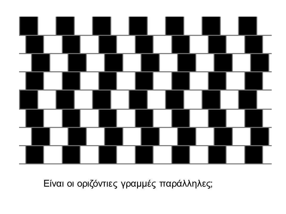 Είναι οι οριζόντιες γραμμές παράλληλες;