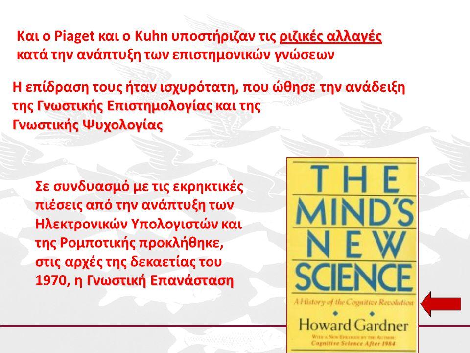 ριζικές αλλαγές Και ο Piaget και ο Kuhn υποστήριζαν τις ριζικές αλλαγές κατά την ανάπτυξη των επιστημονικών γνώσεων Η επίδραση τους ήταν ισχυρότατη, π