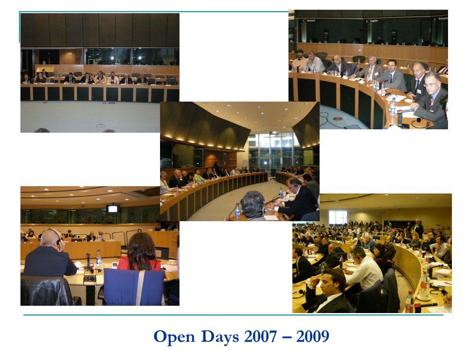 Open Days 2007 – 2009