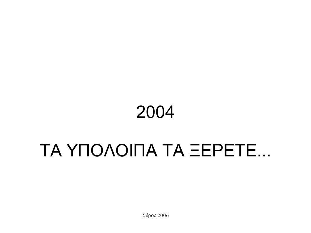 2004 ΤΑ ΥΠΟΛΟΙΠΑ ΤΑ ΞΕΡΕΤΕ...