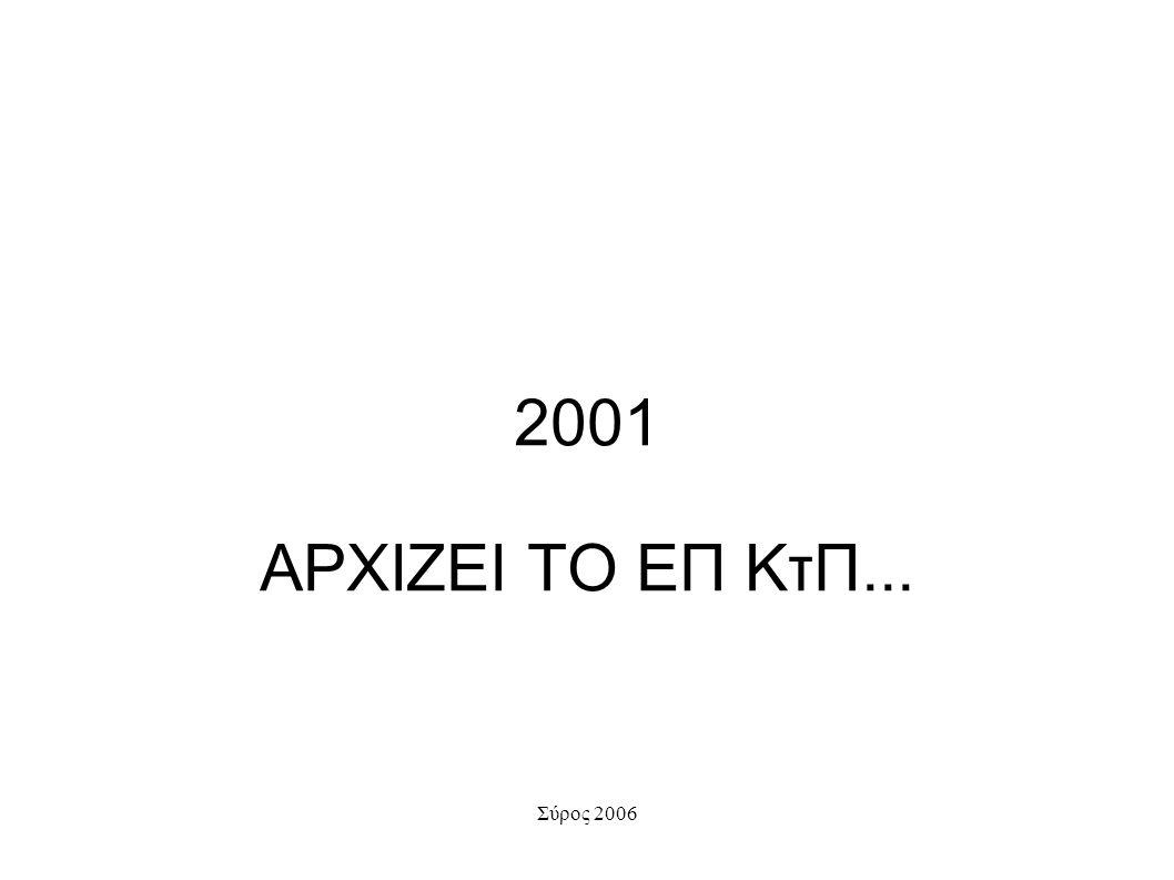 2001 ΑΡΧΙΖΕΙ ΤΟ ΕΠ ΚτΠ...