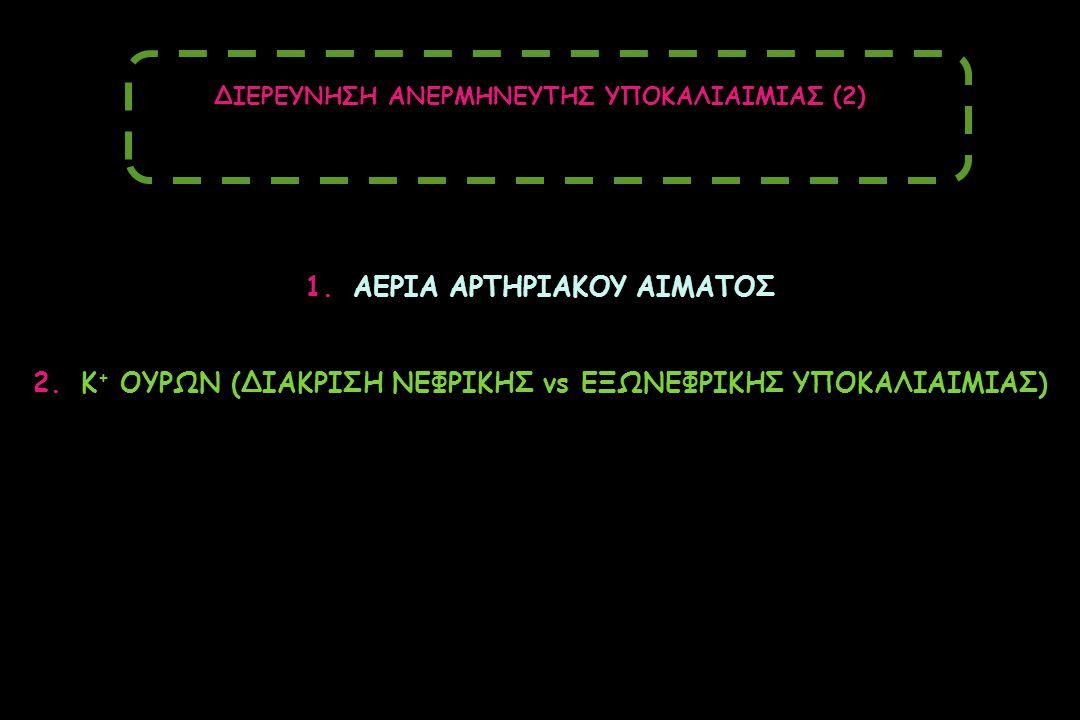 1.ΑΕΡΙΑ ΑΡΤΗΡΙΑΚΟΥ ΑΙΜΑΤΟΣ 2.Κ + ΟΥΡΩΝ (ΔΙΑΚΡΙΣΗ ΝΕΦΡΙΚΗΣ vs ΕΞΩΝΕΦΡΙΚΗΣ ΥΠΟΚΑΛΙΑΙΜΙΑΣ) ΔΙΕΡΕΥΝΗΣΗ ΑΝΕΡΜΗΝΕΥΤΗΣ ΥΠΟΚΑΛΙΑΙΜΙΑΣ (2)