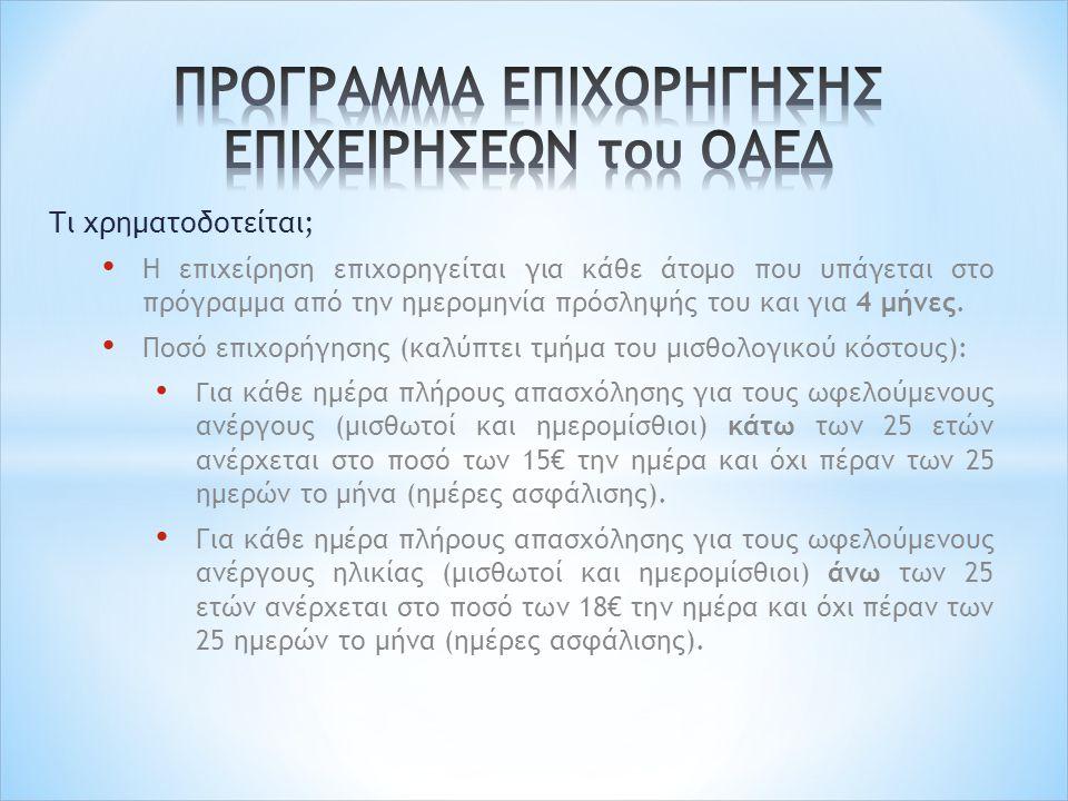 Διαδικασία Υπαγωγής Υποβολή ηλεκτρονικής αίτησης (www.oaed.gr) και αποστολή αυτής μέσω του συστήματος ηλεκτρονικών αιτήσεων (http://ait.oaed.gr/) στο ΚΠΑ2www.oaed.grhttp://ait.oaed.gr/ Στην ηλεκτρονική αίτηση εμπεριέχεται και η εντολή κενής θέσης, στην οποία οι επιχειρήσεις προσδιορίζουν την ειδικότητα των ανέργων που επιθυμούν να προσλάβουν, στα πλαίσια του προγράμματος.