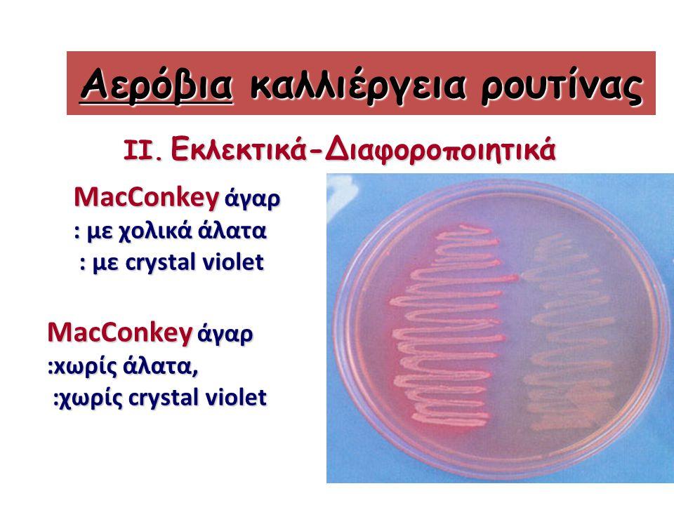 Αερόβια καλλιέργεια ρουτίνας II.