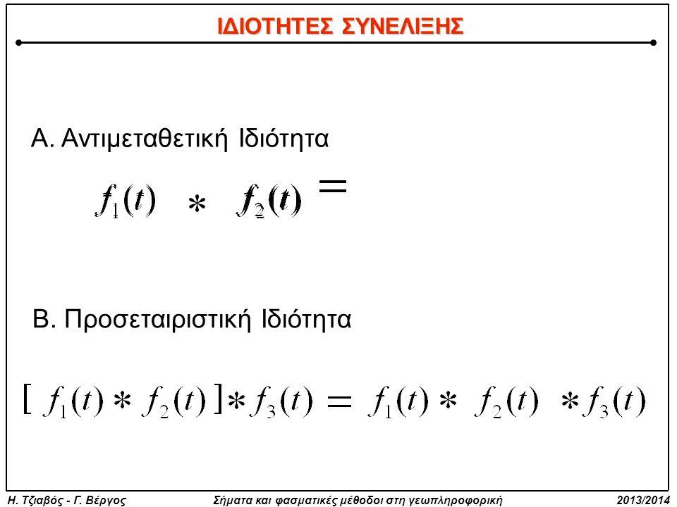 Η. Τζιαβός - Γ. Βέργος Σήματα και φασματικές μέθοδοι στη γεωπληροφορική 2013/2014 Α.